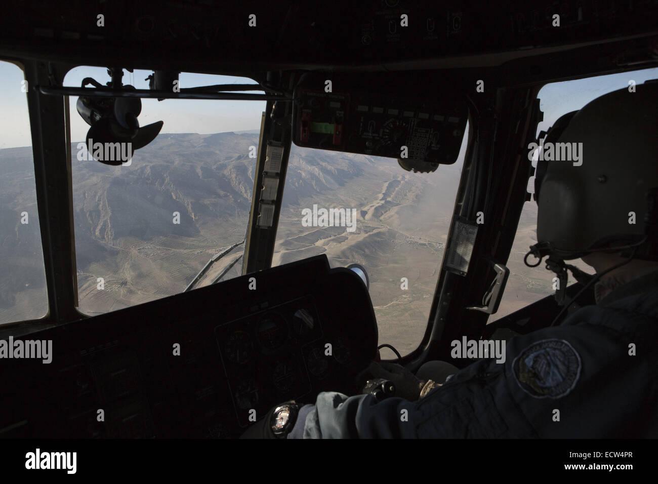 Dec. 11, 2014 - Sinjar Mountains, Iraqi-Kurdistan, Iraq - 11/12/2014. Sinjar Mountains, Iraq. Mount Sinjar is seen - Stock Image