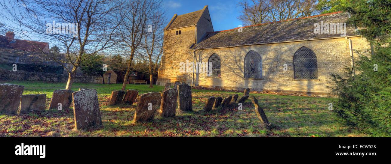 St Marys Church Ardley, Oxfordshire, England, United Kingdom panorama - Stock Image