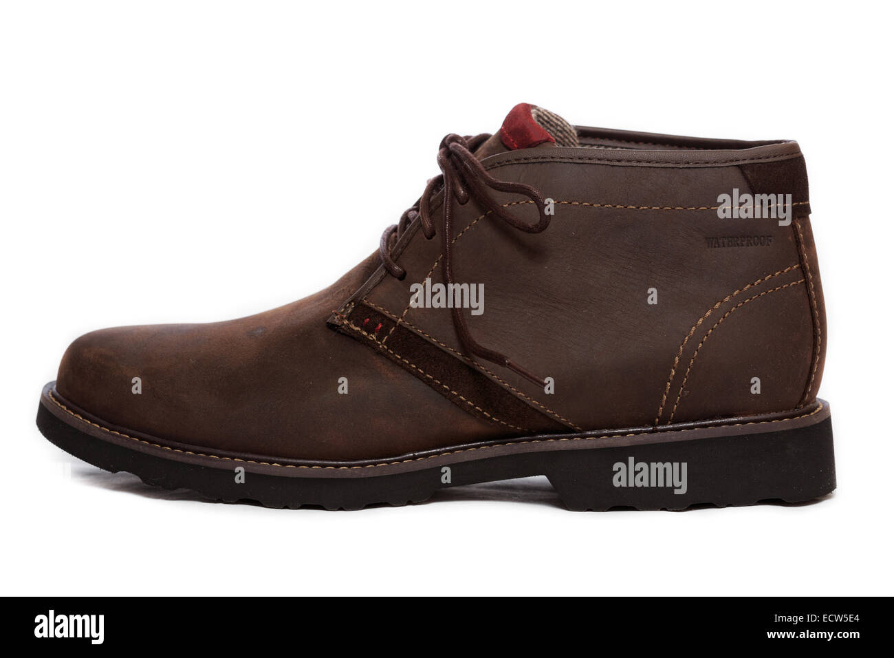 Profile of a brown Chukka Boot Shoe Stock Photo