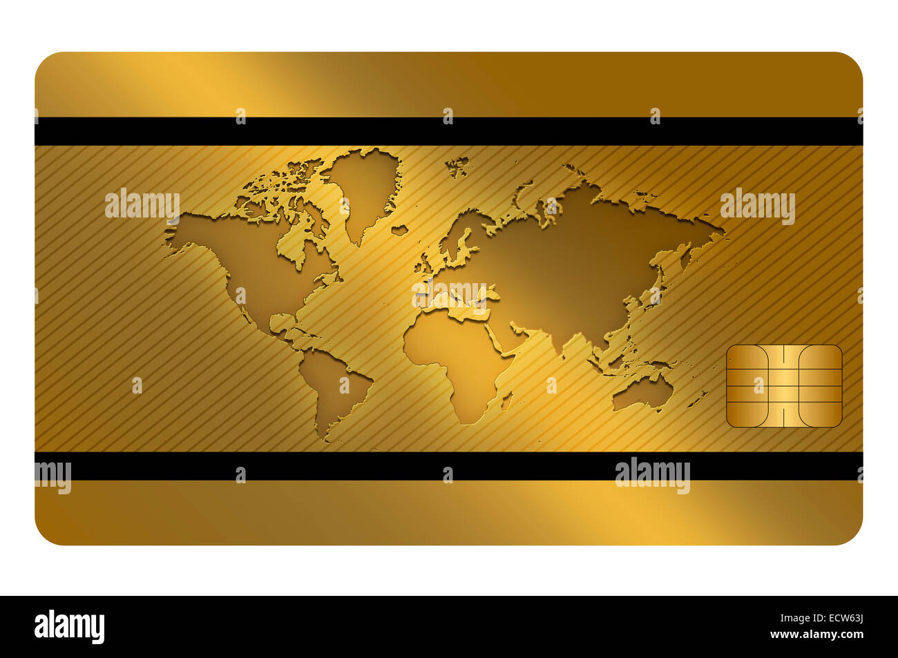credit card template design gold card cut out stock images