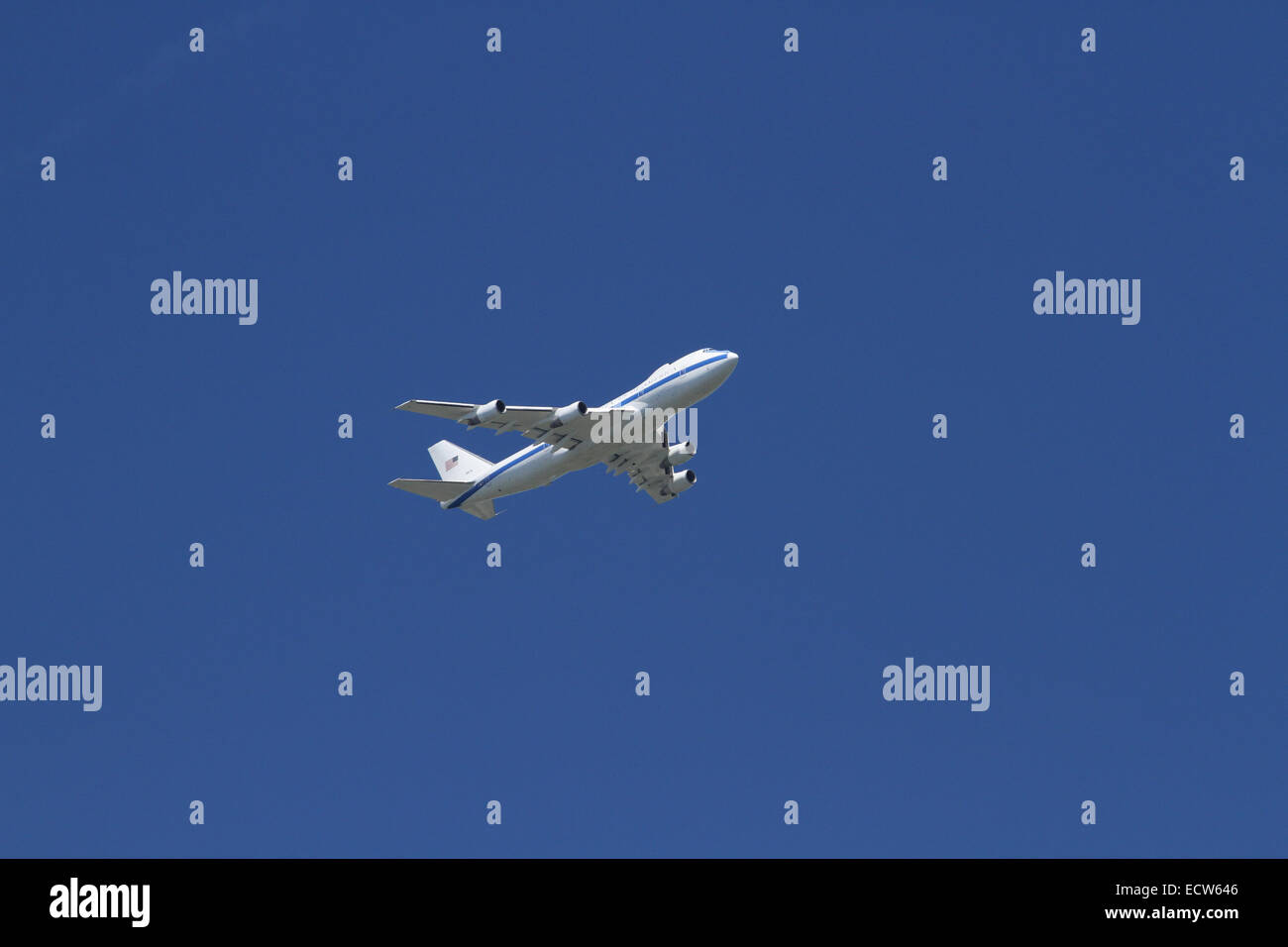 Air Force One. Modified Boeing VC-25A. Presidential Airplane of the United States of America. - Stock Image