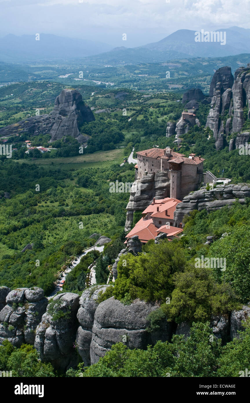 This is a very beauty situated monastery - on the top of rock. Stock Photo