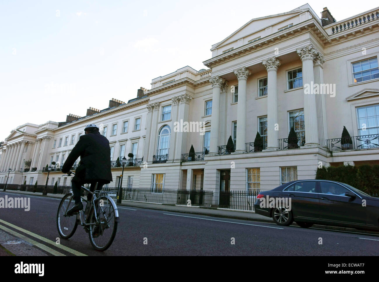 Qatari royal family reported to have paid £120m for three huge houses in Cornwall Terrace, Regents Park, London - Stock Image