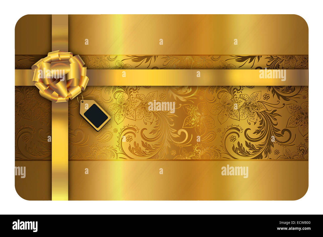 Gold business card template. Gold floral background for the design ...