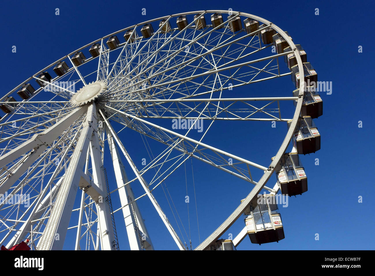 winter wonderland big wheel in hyde park london stock photo