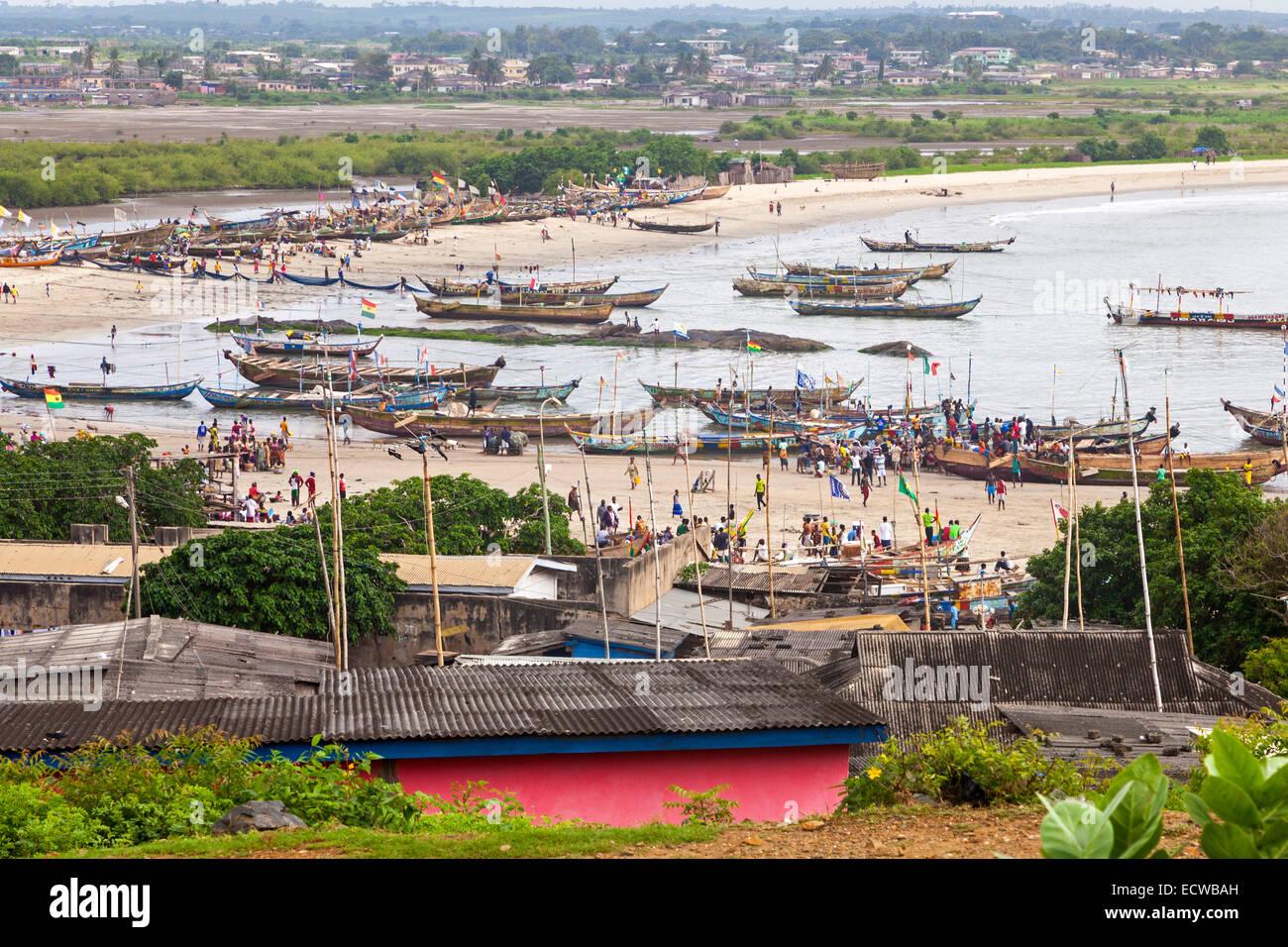 Apam harbour, Ghana, Africa - Stock Image