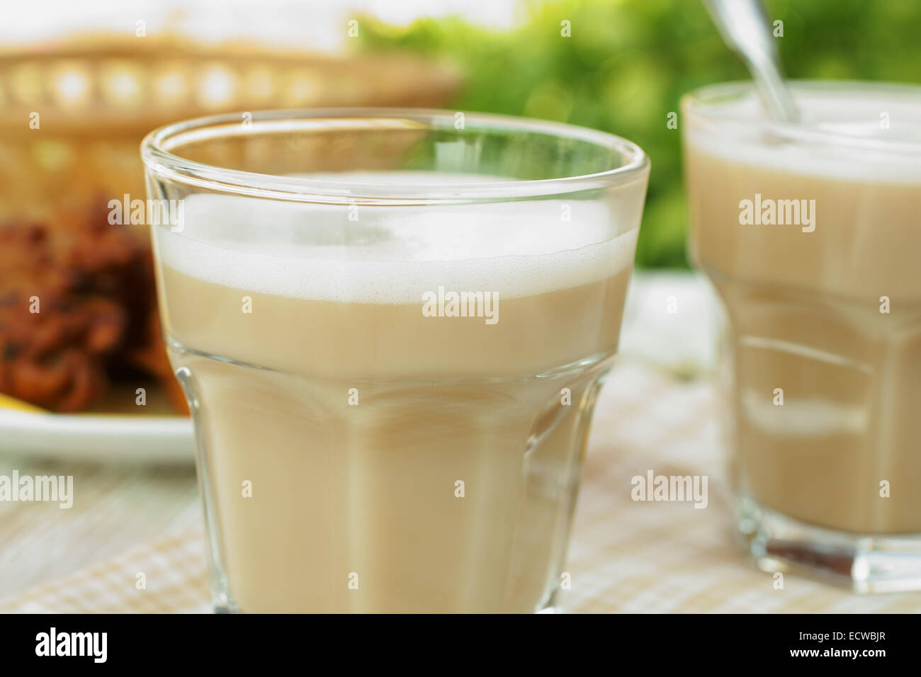Indian Chai or black tea made with milk and various spices Stock Photo