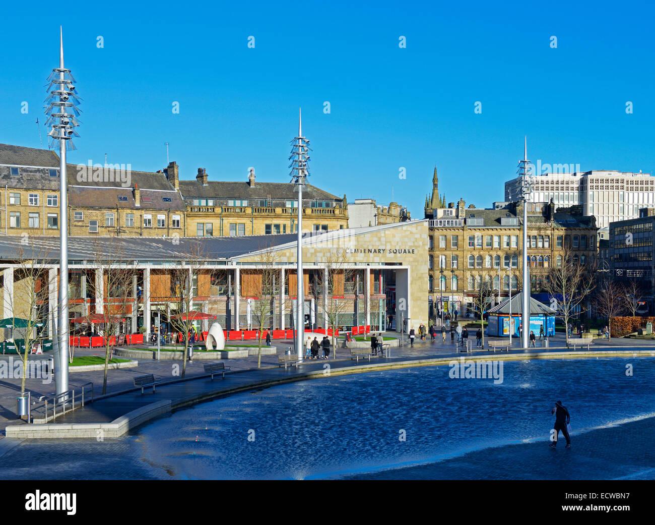 Centenary Square, Bradford, West Yorkshire, England UK - Stock Image