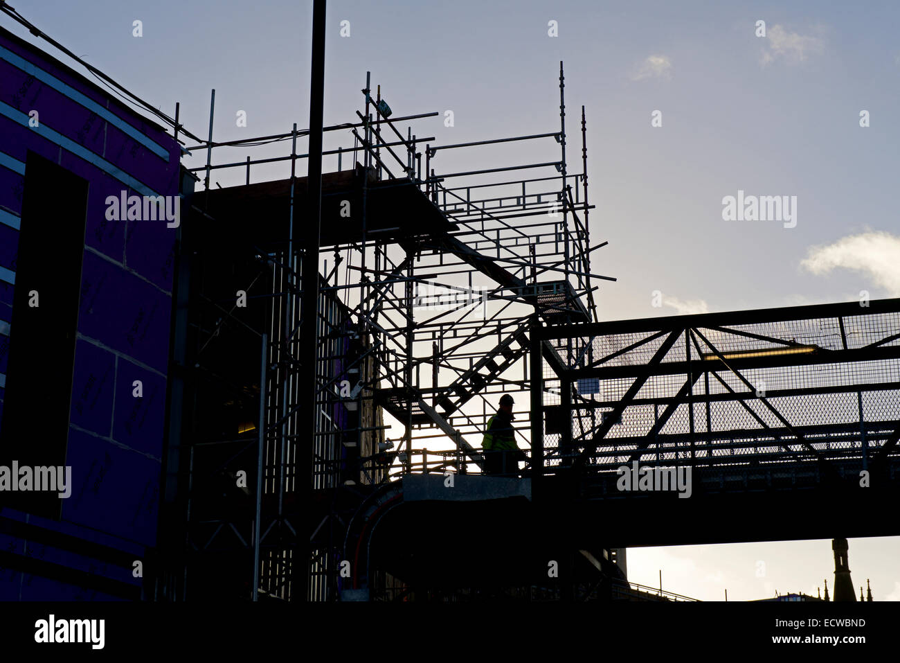 The Broadway shopping centre being built, Bradford, West Yorkshire, England UK - Stock Image
