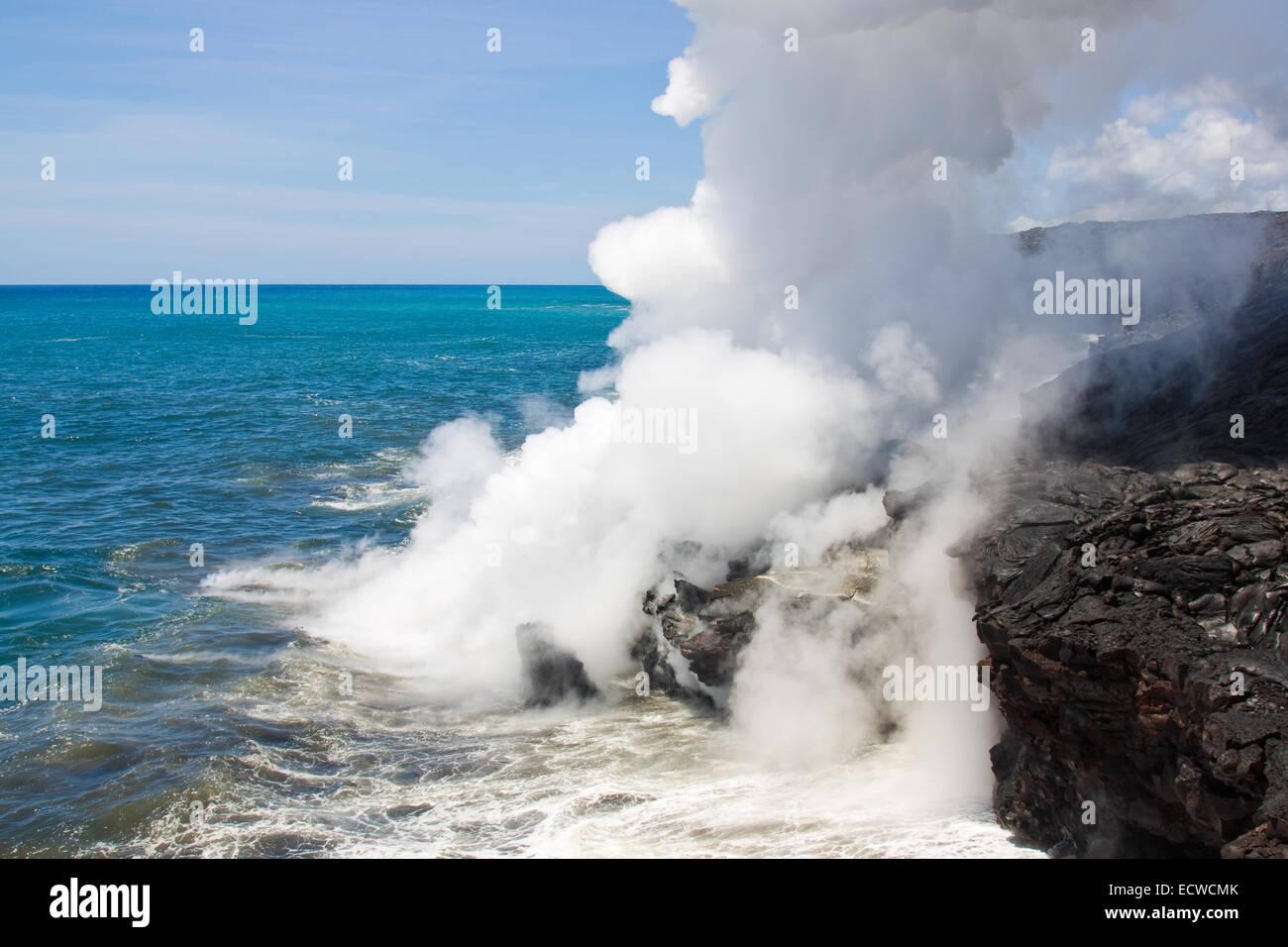 Lava haze (laze) - Stock Image