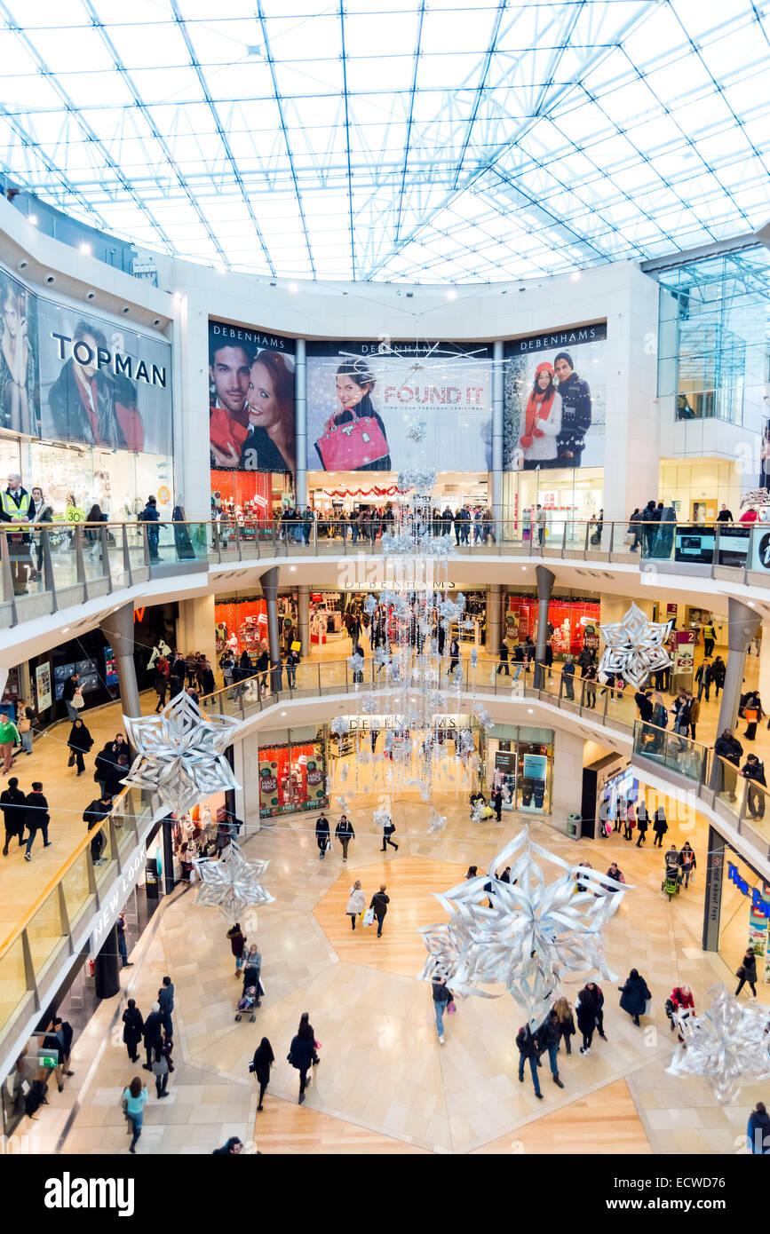 Interior of the Bullring shopping centre, Birmingham, UK - Stock Image