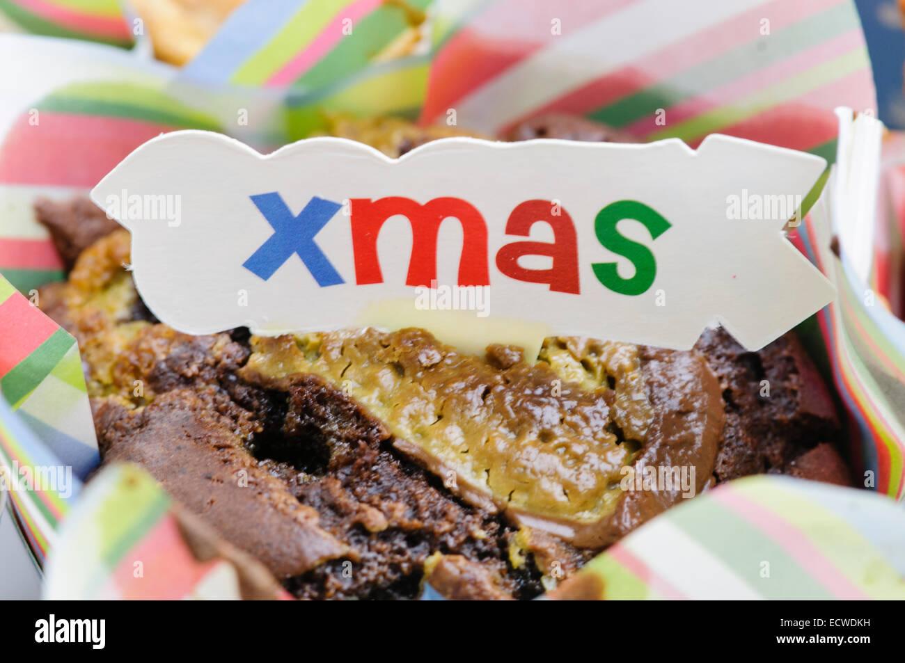 Homemade Christmas muffins - Stock Image