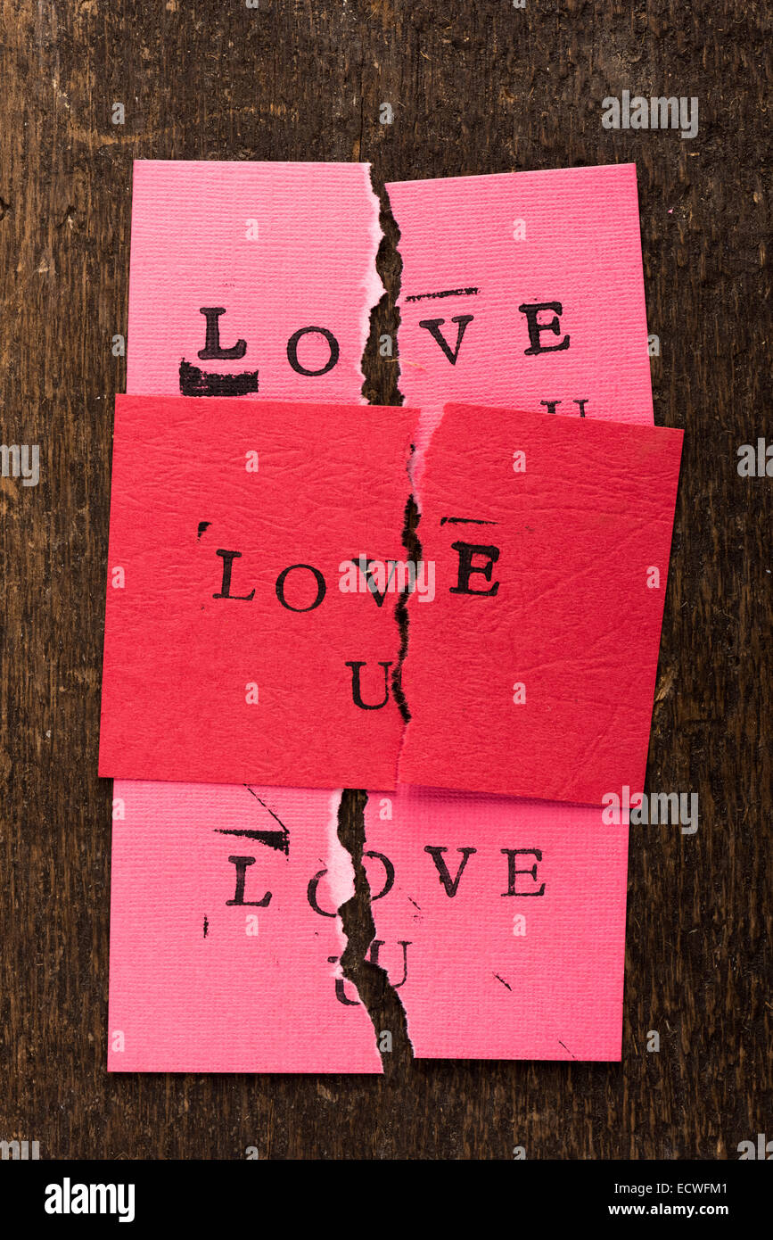 handmade stamped valentine's day card with love u stamped on it set
