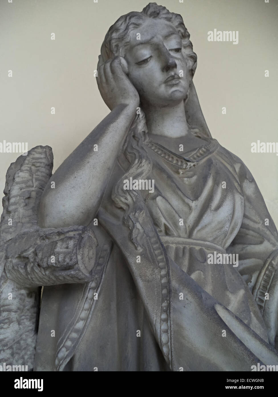 Statue Of Woman On Tomb As A Symbol Of Depression Pain Sorrow And