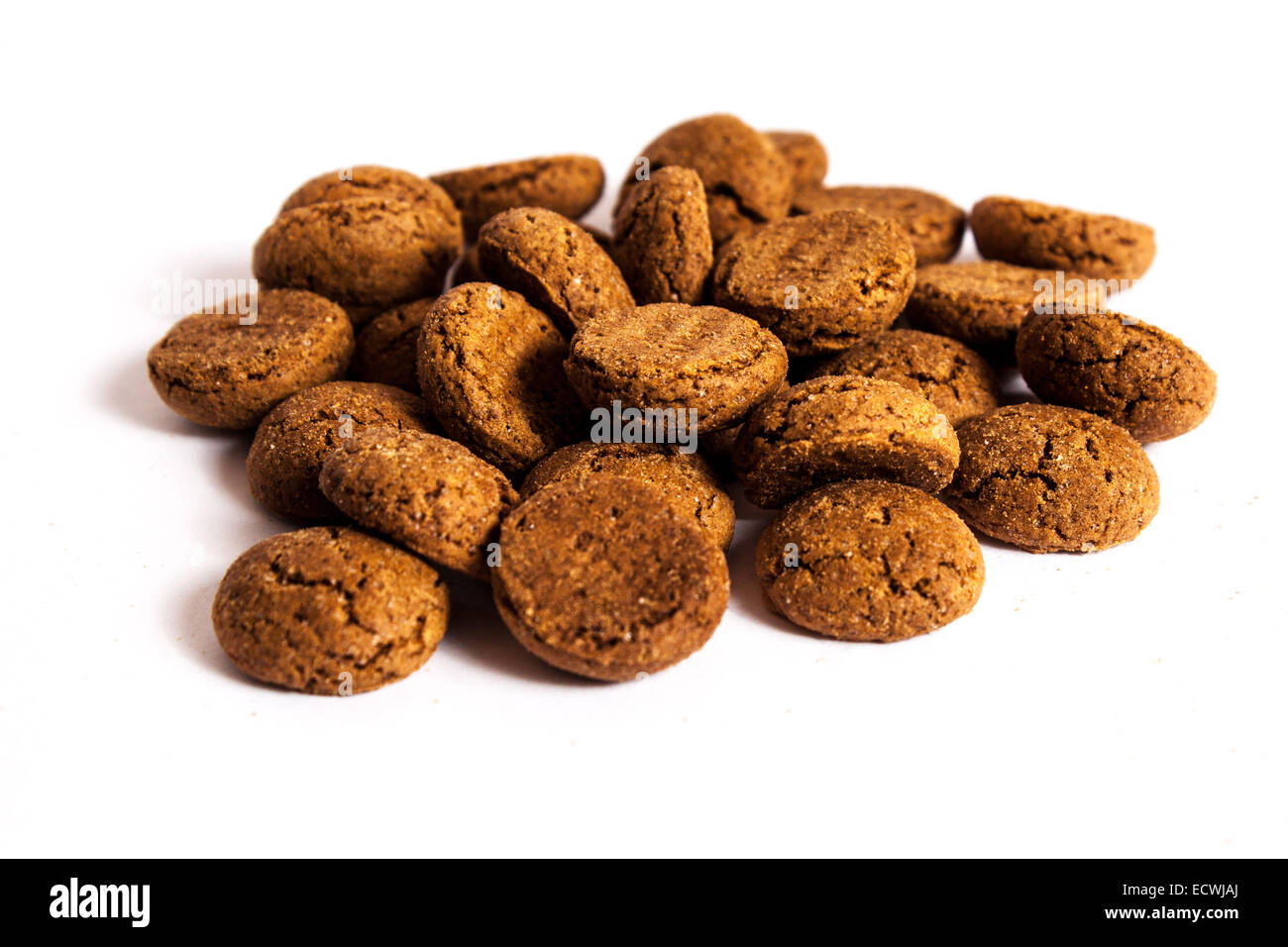 Isolated ginger nuts Stock Photo