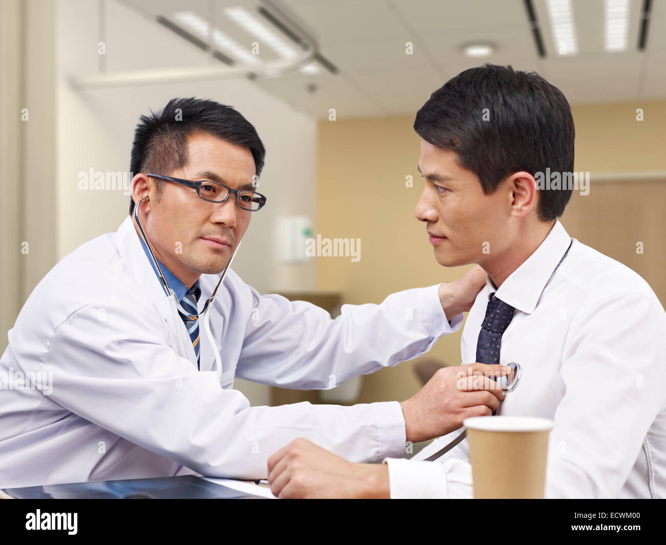 doctor and patient - Stock Image