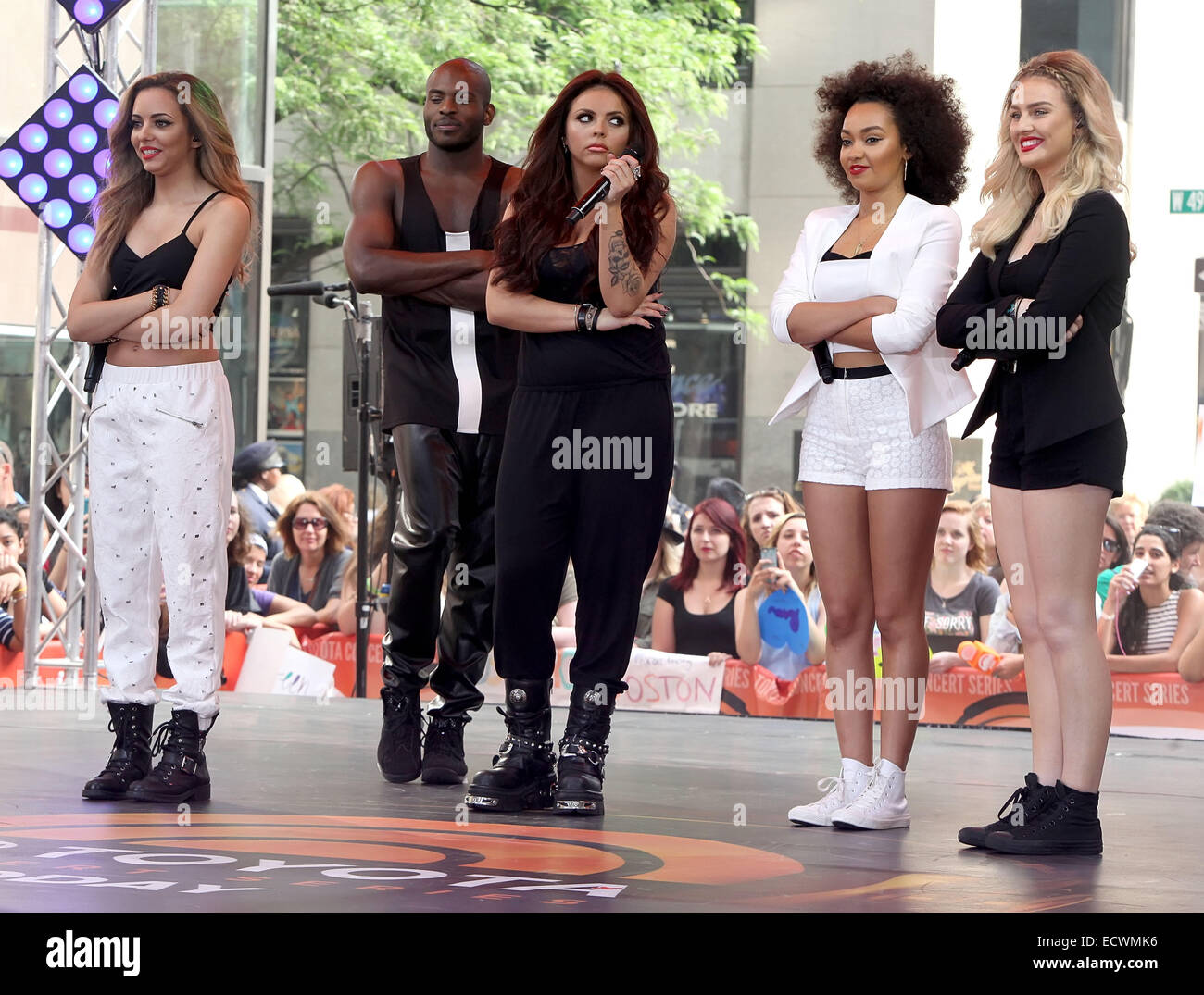 Little Mix perform live on the 'Today' show as part of NBC's Toyota Concert Series  Featuring: Perrie - Stock Image