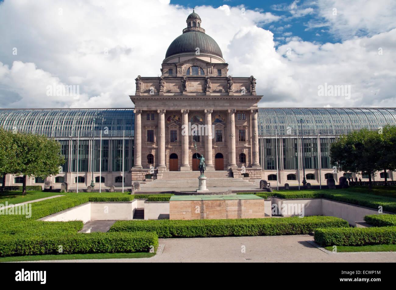 The historic state chancellery Bayerische Staatskanzlei of Munich in Bavaria - Stock Image