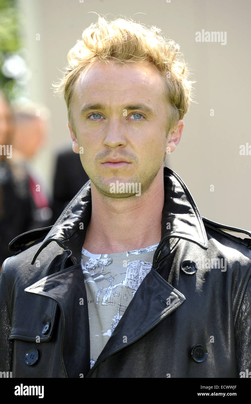 25d5f8c7067 London Fashion Week Men s Ready-To-Wear Summer 2015 - Burberry Prorsum - Celebrity  Sightings Featuring  Tom Felton Where  London