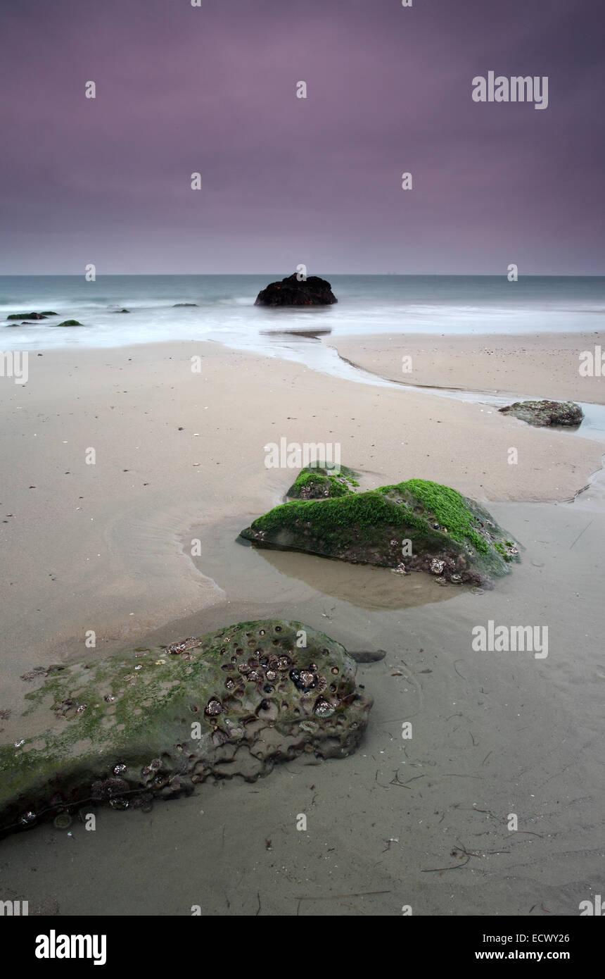 Beach in the Dusk - Stock Image