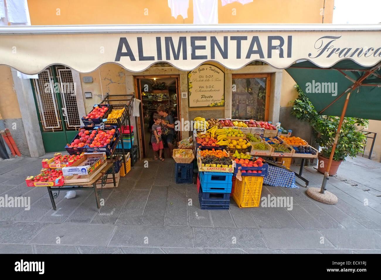 Cinque Terre Market Stock Photos & Cinque Terre Market Stock