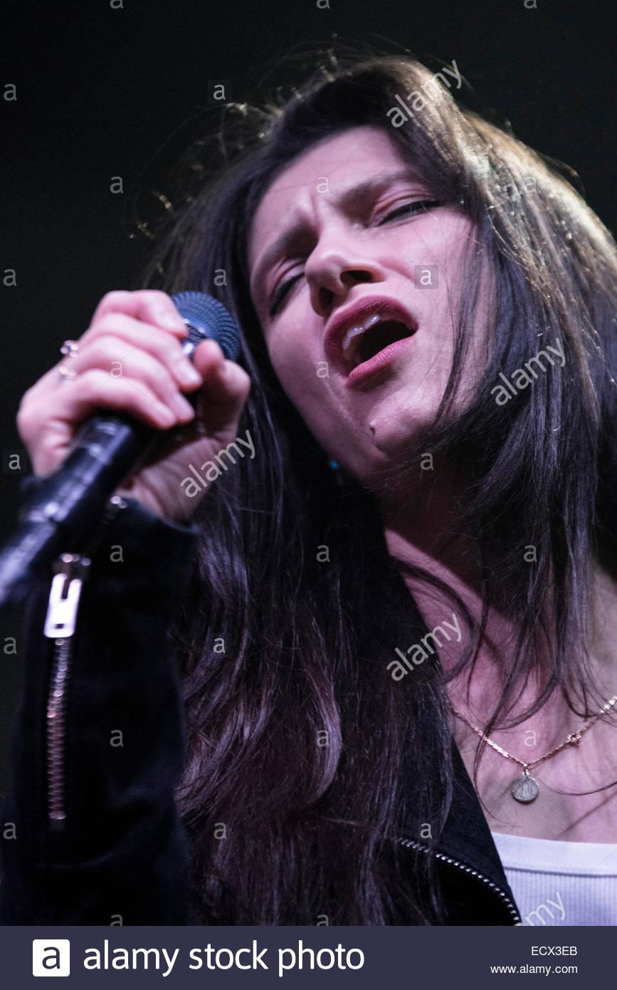 Rome, Italy. 20th Dec 2014. Elisa performs her new album, L'anima vola, in Atlantico live in Rome, on December - Stock Image