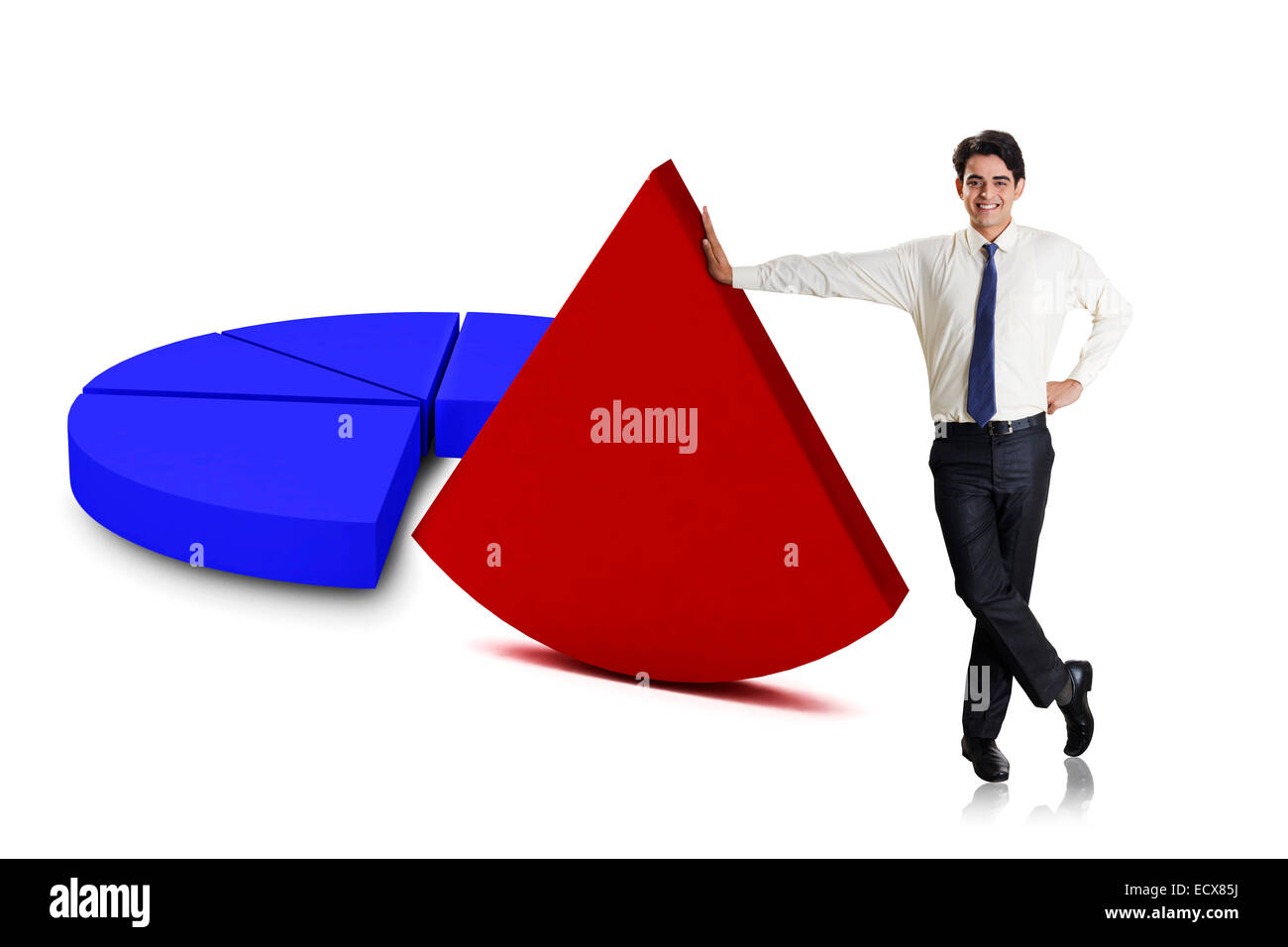 1 indian Business Man - Stock Image