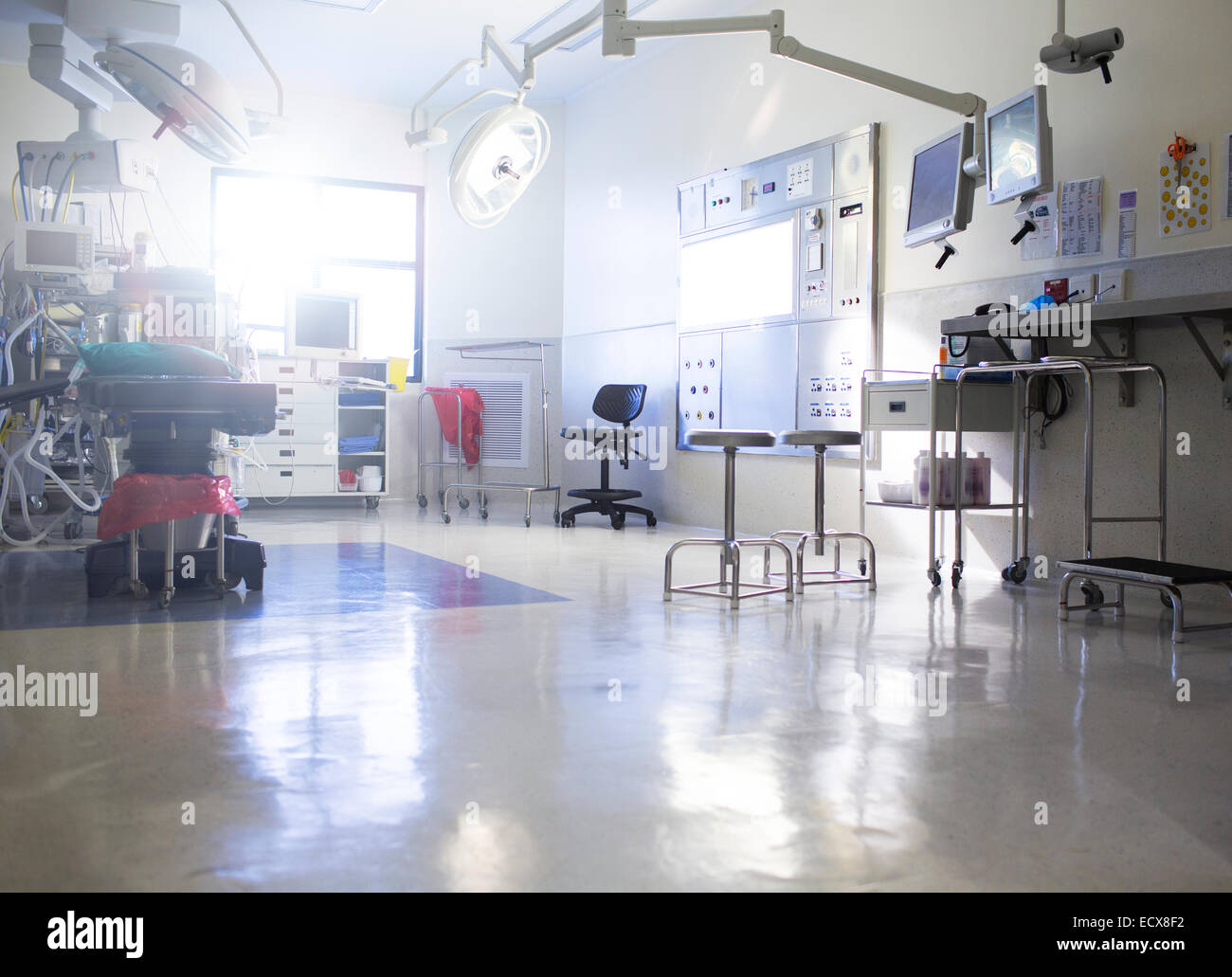 Medical equipment in operating theater - Stock Image