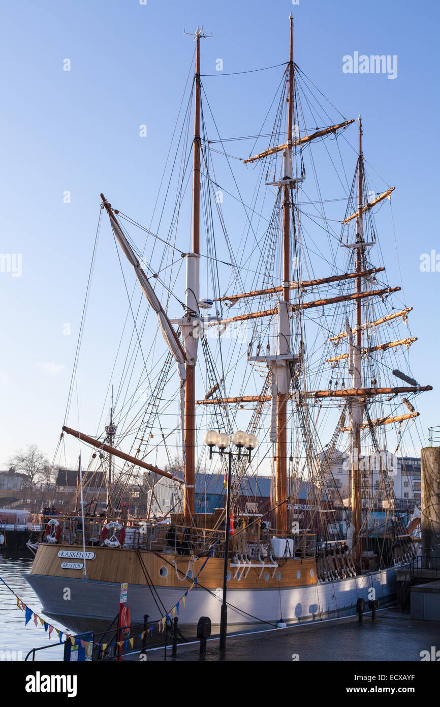 The Kaskelot tall ship in Bristol Harbour - Stock Image