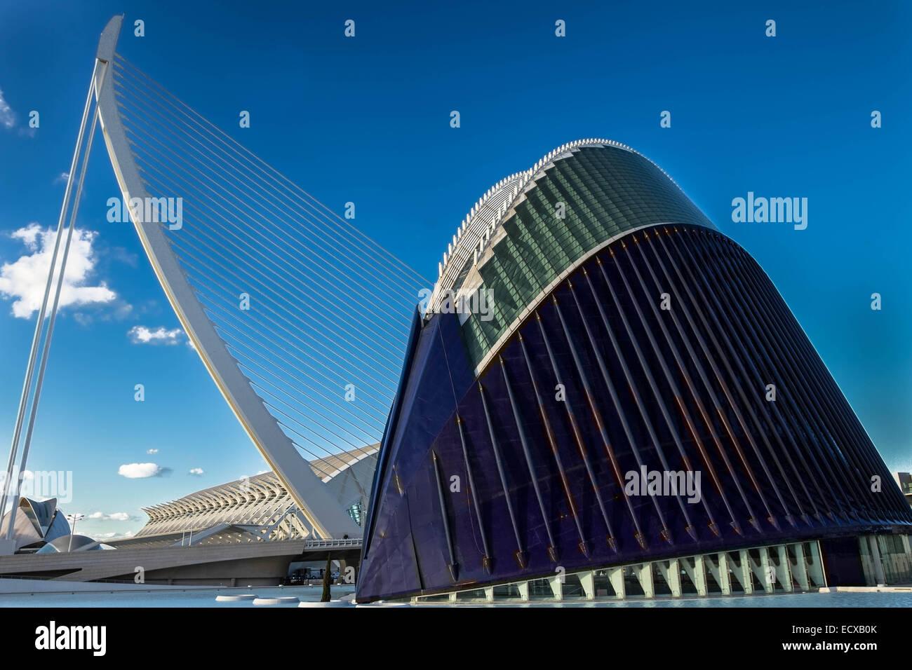 Modern futuristic building, Valencia, Spain - Stock Image
