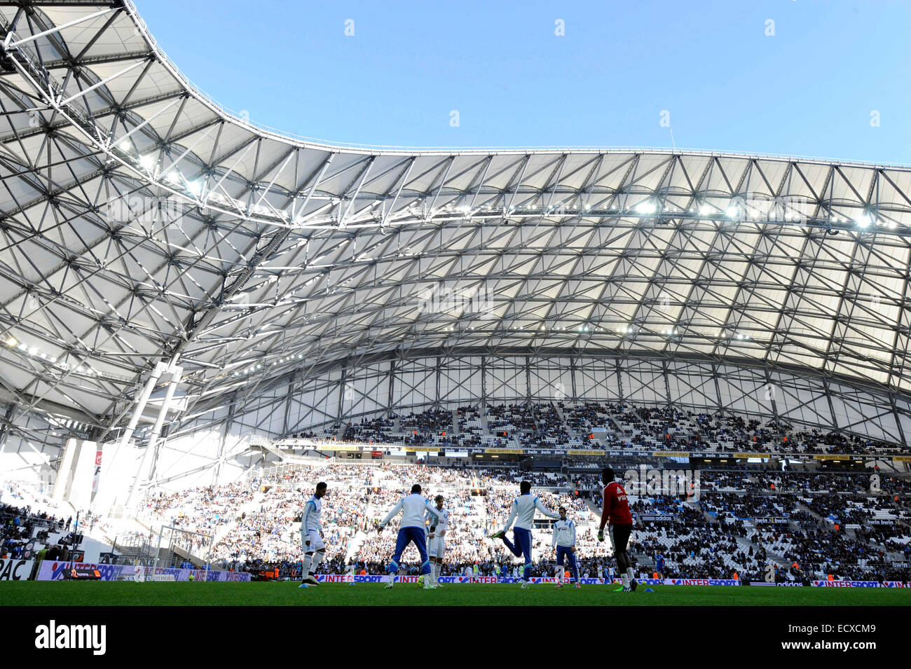 Marseille, France. 21st Dec, 2014. French League 1 football. Marseille versis Lille. The stadium at Marseille stade - Stock Image