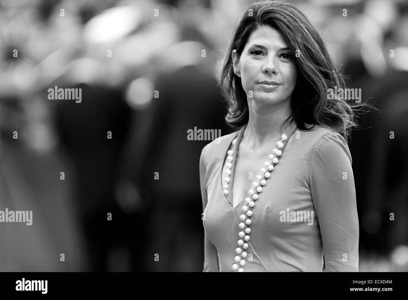 VENICE, ITALY - AUGUST 31: Actress Marisa Tomei  attends 'The Ides Of March' premiere during the 68th Venice - Stock Image