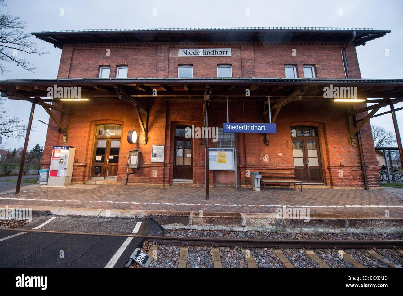 Niederlindhart, Germany. 21st Dec, 2014. An African asylum seeker was beaten up by three uidentified men in a regional - Stock Image