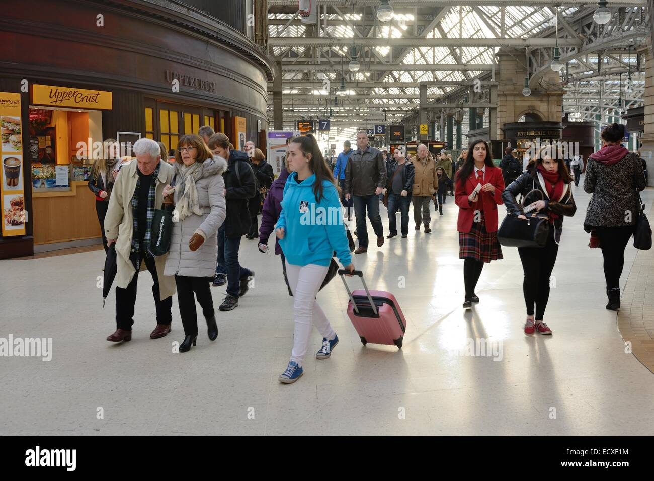 A busy concourse in Glasgow Central Station, Scotland - Stock Image