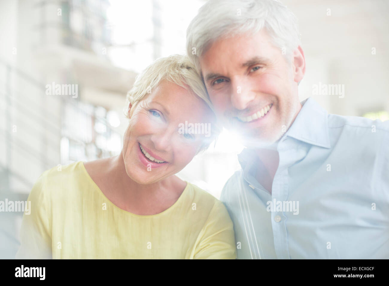 Smiling older couple - Stock Image