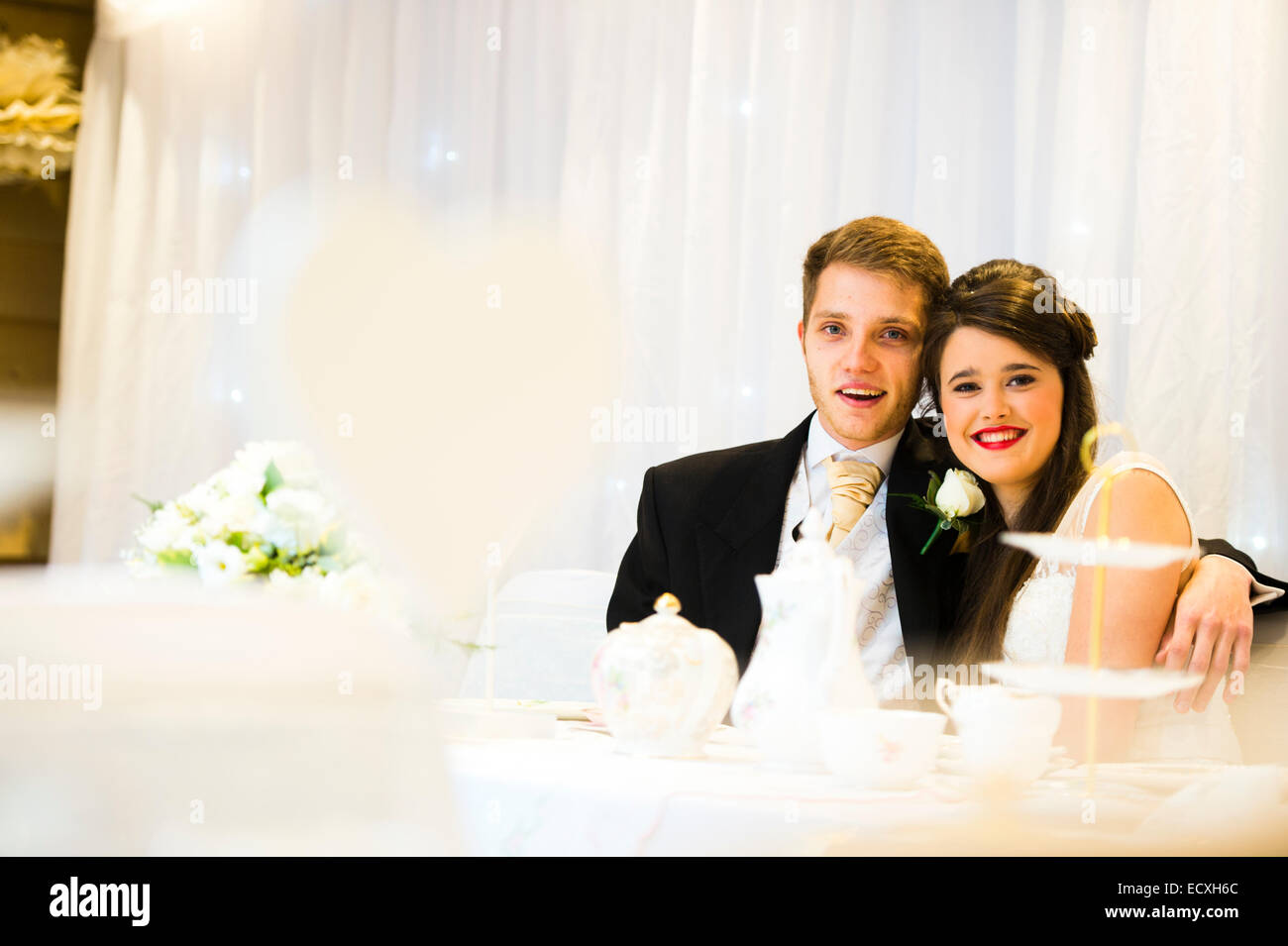 Getting Married Wedding Day Uk The Happy Young Pretty Bride And