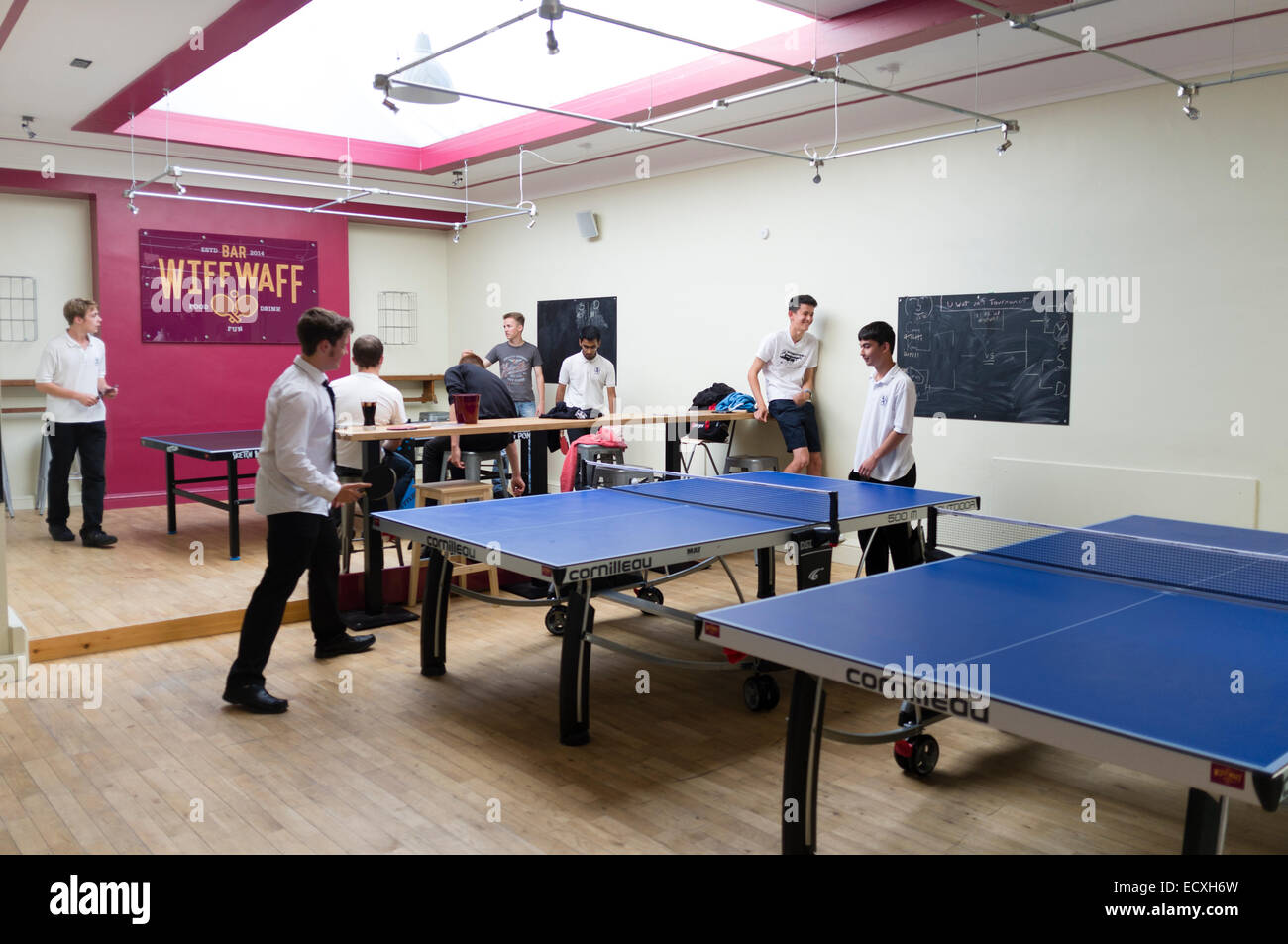Teenagers Playing Table Tennis In And After School Club At The Wiff Stock Photo Alamy