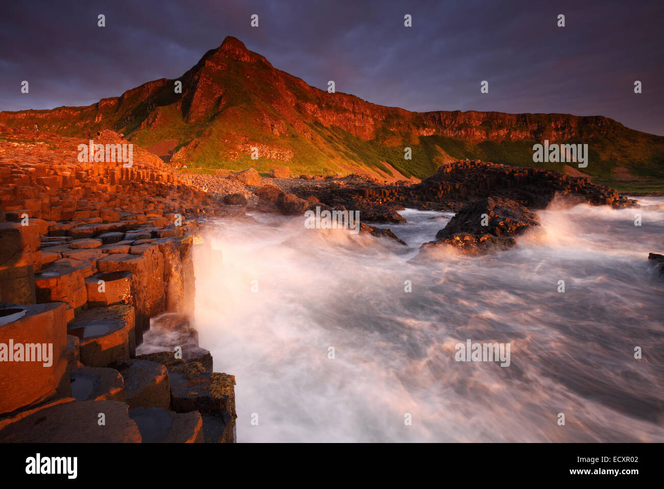 The Giant's Causeway, Northern Ireland - Stock Image