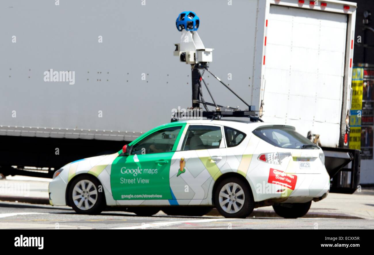 Google Map Street View Vehicle Where New York City New York Stock