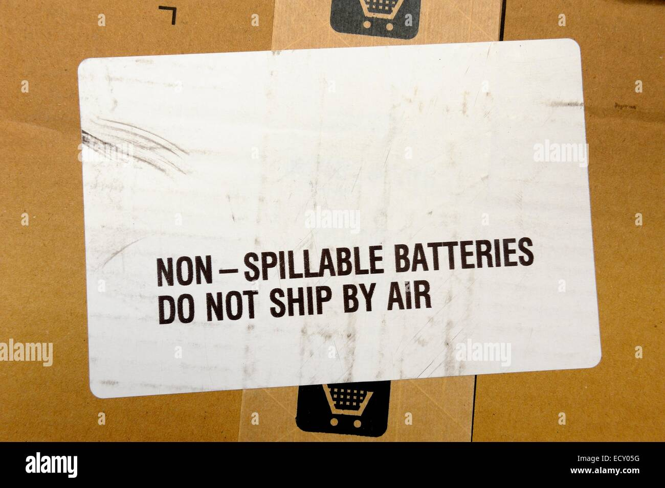 Label Attached To A Parcel Advising Of Contents Non