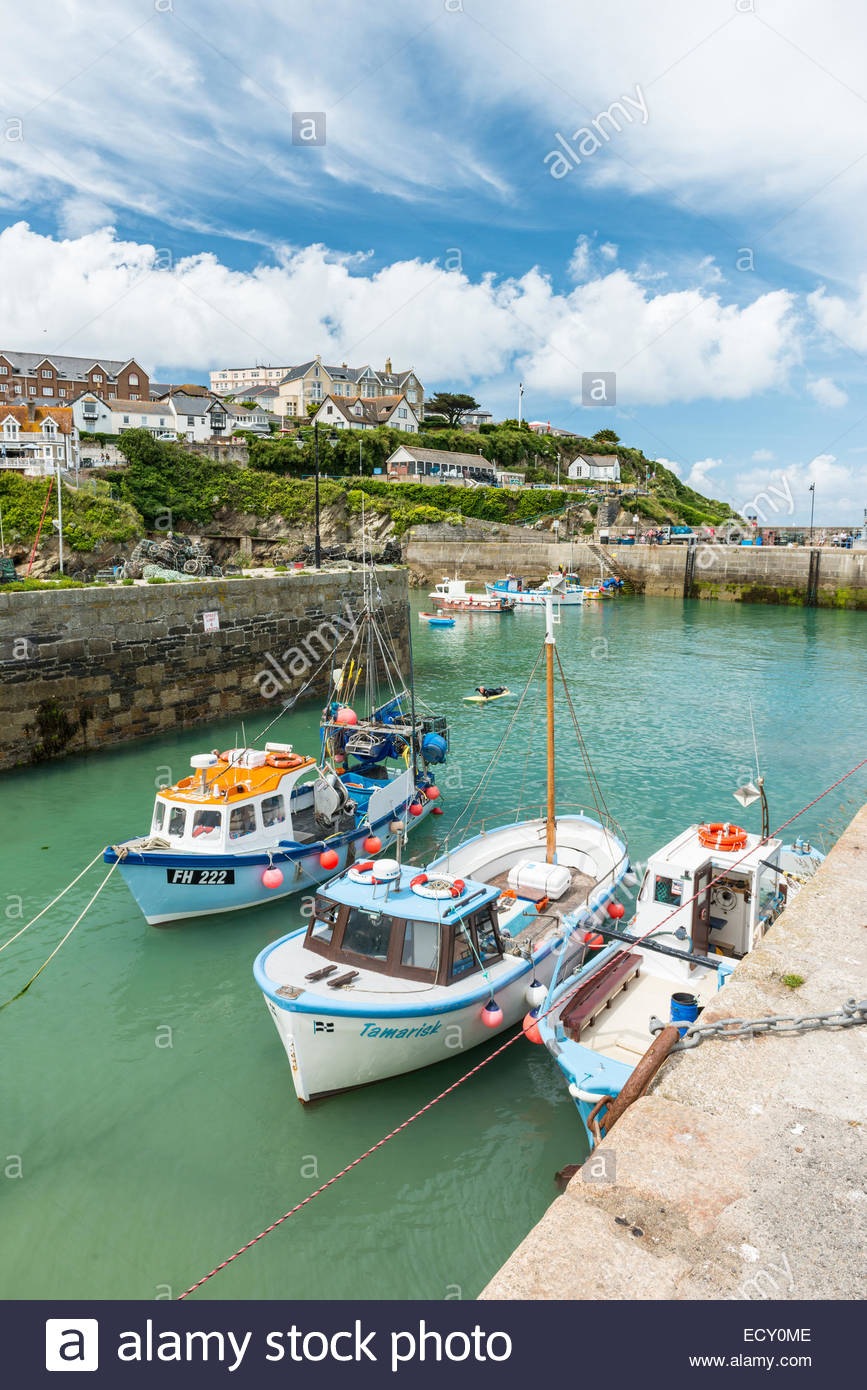 Newquay Harbour on a beautiful summers day! - Stock Image