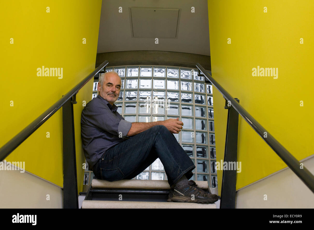 Portrait of mathematician and Risk guru, Professor Sir David Spiegelhalter at the Centre for Mathematical Sciences, - Stock Image