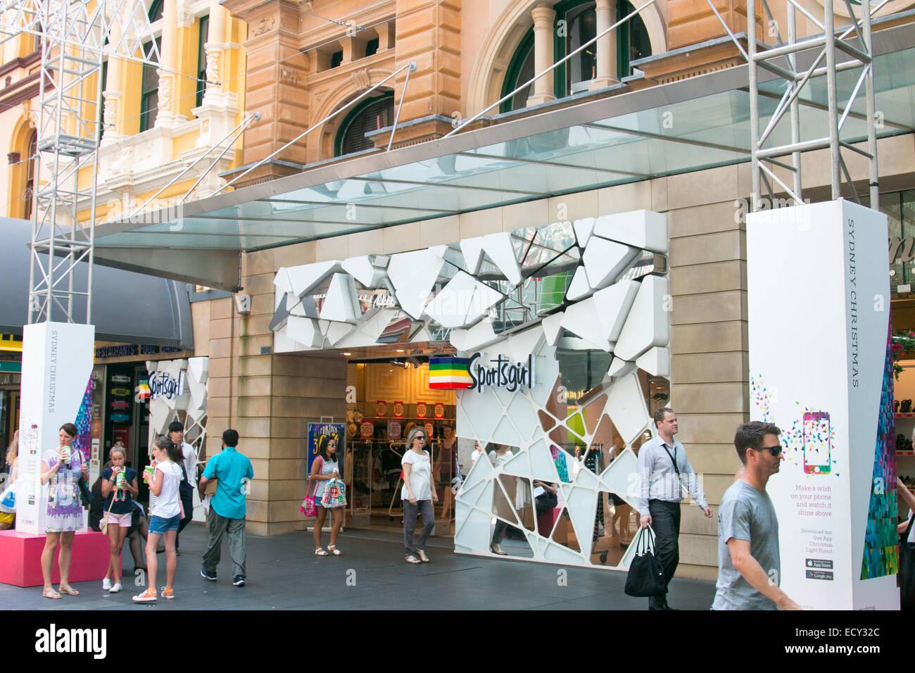 Sportsgirl Clothing Store Shop In Pitt Streetsydneyaustralia