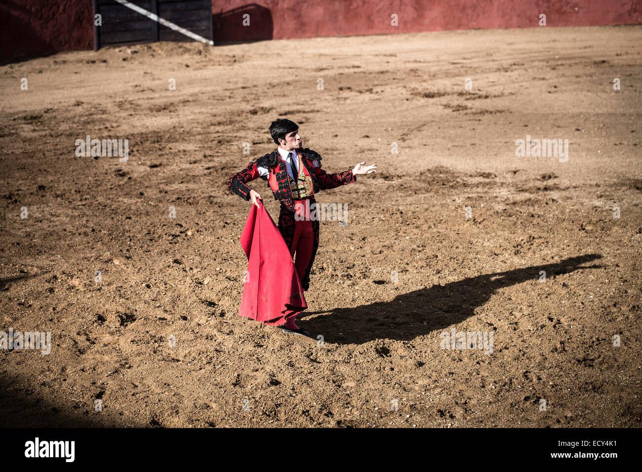 Bullfighter, bullfighting, El Barco de Avila, Avila, Spain Stock Photo