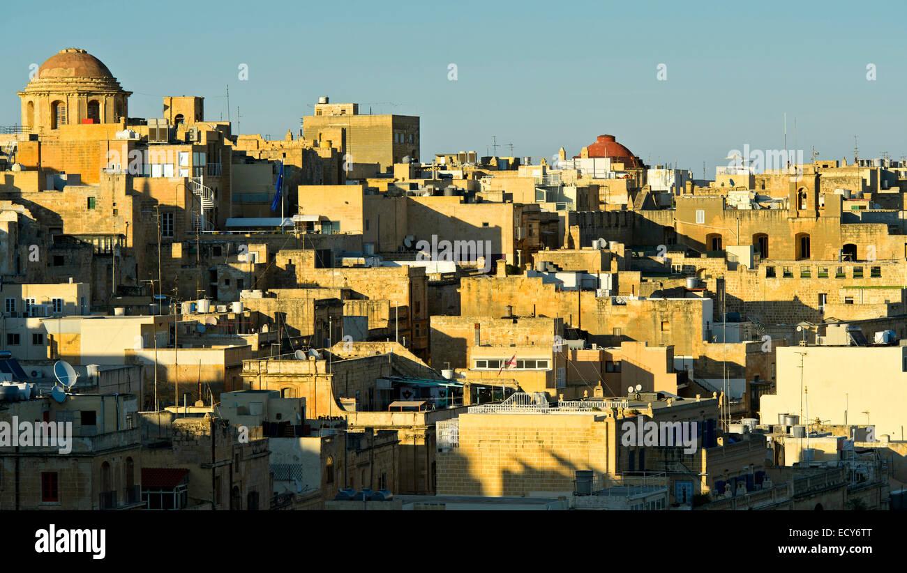 Cityscape, European Capital of Culture 2018, Valletta, Malta - Stock Image