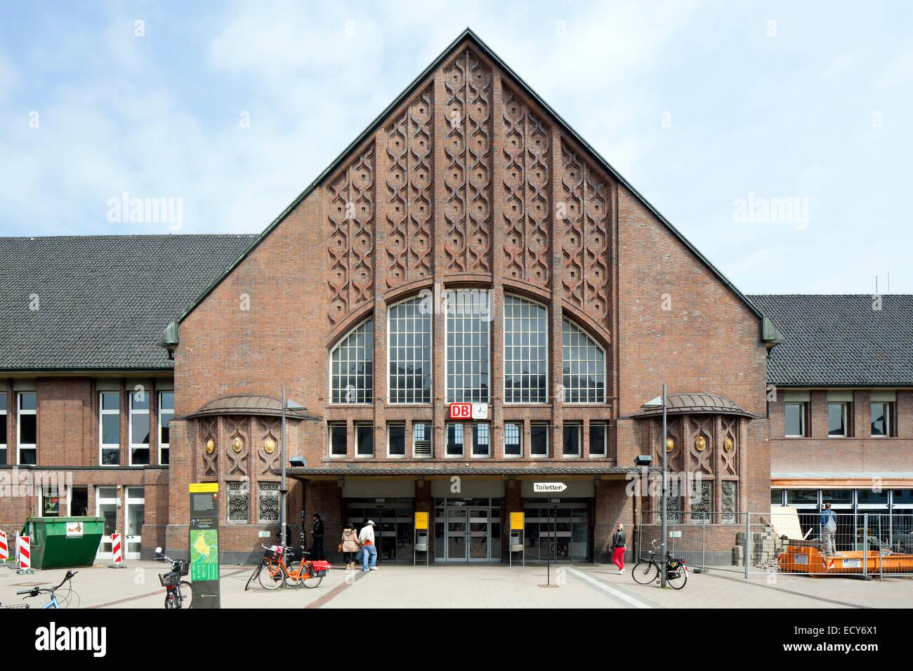 Oldenburg main station, Oldenburg, Lower Saxony, Germany - Stock Image