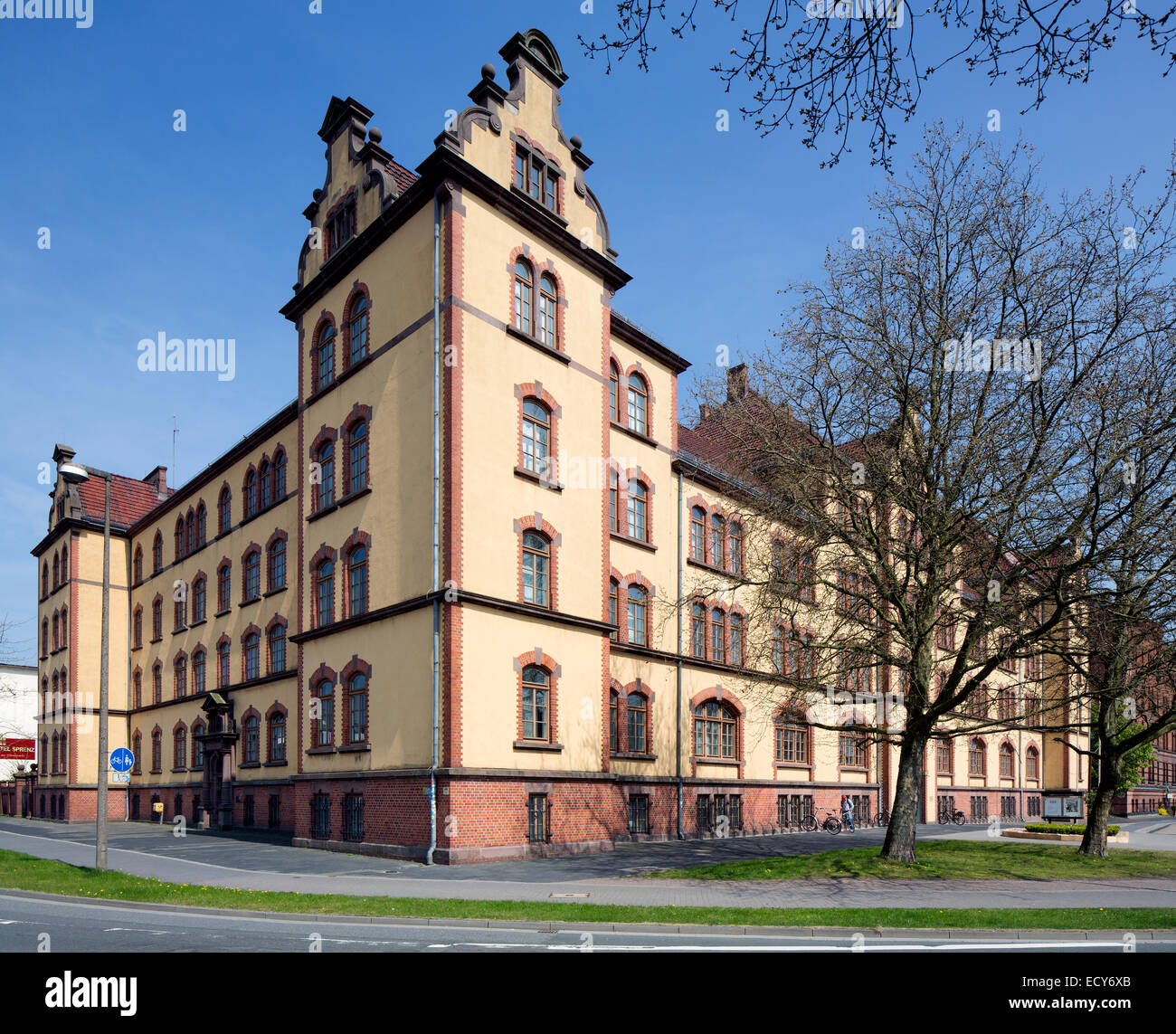 Former barracks at Pferdemarkt square, now Regional Library, Oldenburg, Lower Saxony, Germany - Stock Image