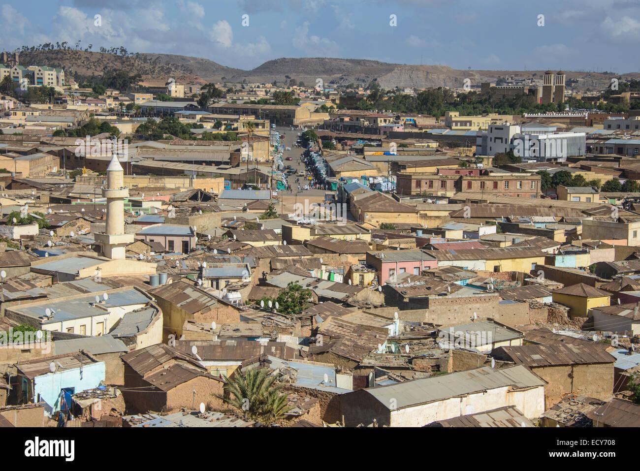 overlooking the city asmara eritrea stock photo 76815544 alamy