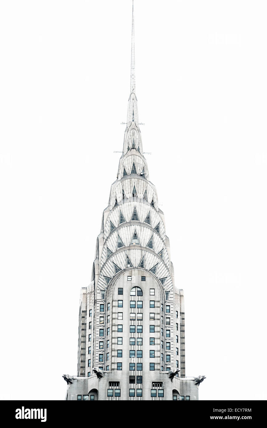 Chrysler Building, Manhattan, New York City, New York, United States - Stock Image
