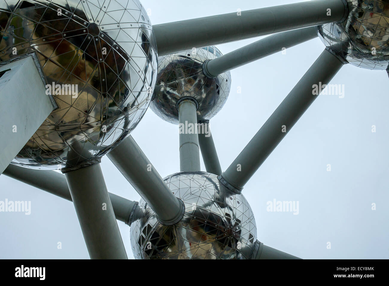 Atomium structure in Brussels. - Stock Image